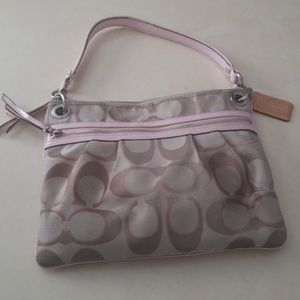 Coach purse pink and tan